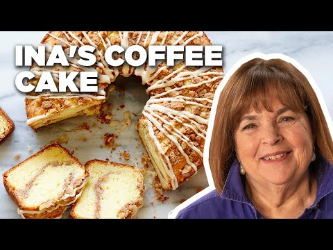 Incredible Sour Cream Coffee Cake with Ina Garten | Food Network
