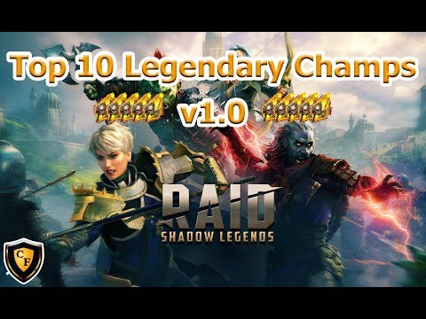 RAID: SL - Top 10 Legendary Champs v1.0