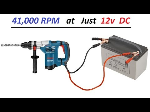 Run 220v Drill Machine with 12v Battery - Cheap 3 KW DC to AC Inverter