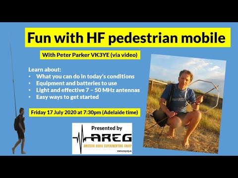 HF Pedestrian Mobile with Peter VK3YE