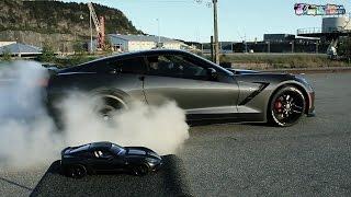 TIRE SLAYER! Corvette C7 laying down rubber