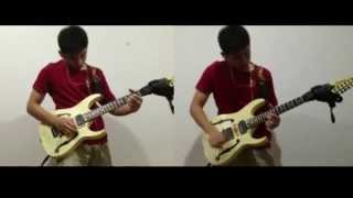 SLIPKNOT - Welcome Guitar solo cover (Dual)HD