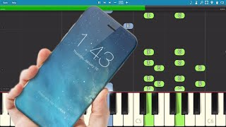 iPhone X Ringtones - Piano Tutorial - How to play Apple Marimba Ringtones on piano