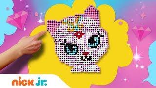 DIY Arts & Craft w/ Nahal Pixel Pictures | Shimmer & Shine | Nick Jr.