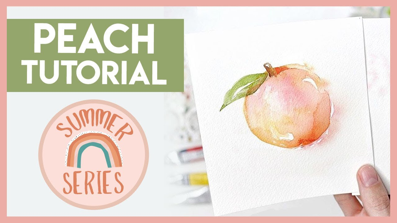 Loose Peach Easy Watercolor Tutorial for Summer!