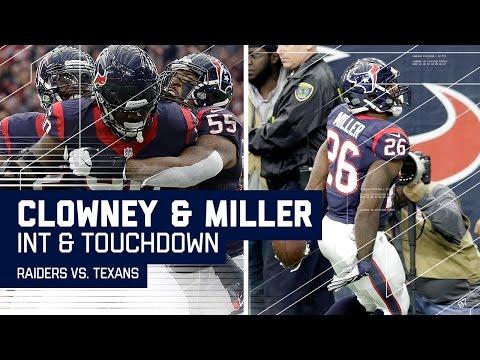 Jadeveon Clowney's INT Sets Up Lamar Miller's TD! | Raiders vs. Texans | NFL Wild Card Highlights