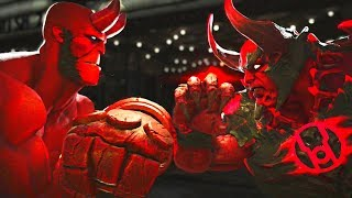 Injustice 2 - Hellboy vs Atrocitus All Intros, Clash Quotes And Supermoves