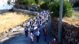 A banda filarmónica Popular Manteiguense a percorrer as ruas da nossa aldeia - Junça.