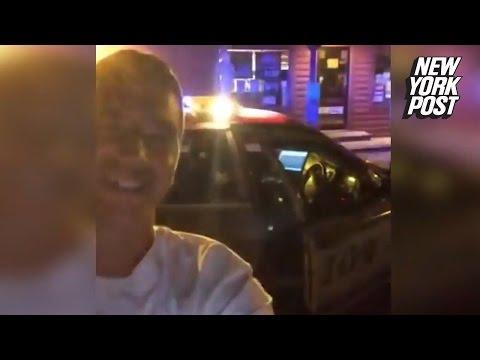 S-a filmat cand fura o masina de politie