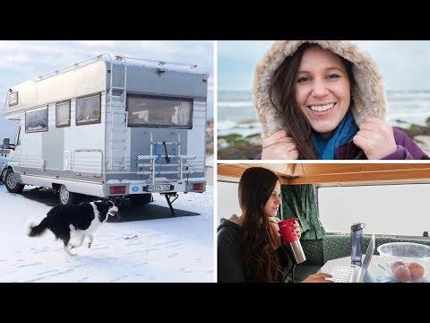 CamperVan Life // Living In A 20ft CamperVan During The Swedish Winter