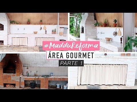 #MadduReforma Área Gourmet ( transformação completa! )