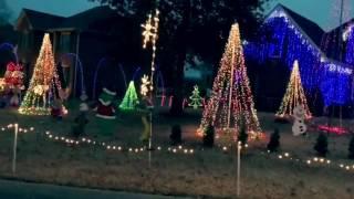 Black Beatles synced to Christmas lights