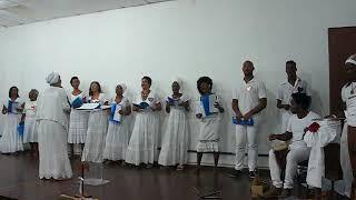 Coro Oyá Igbalé UNEB. Cantiga Senhora do Amanhecer. Espetáculo Xangô e Iansã.