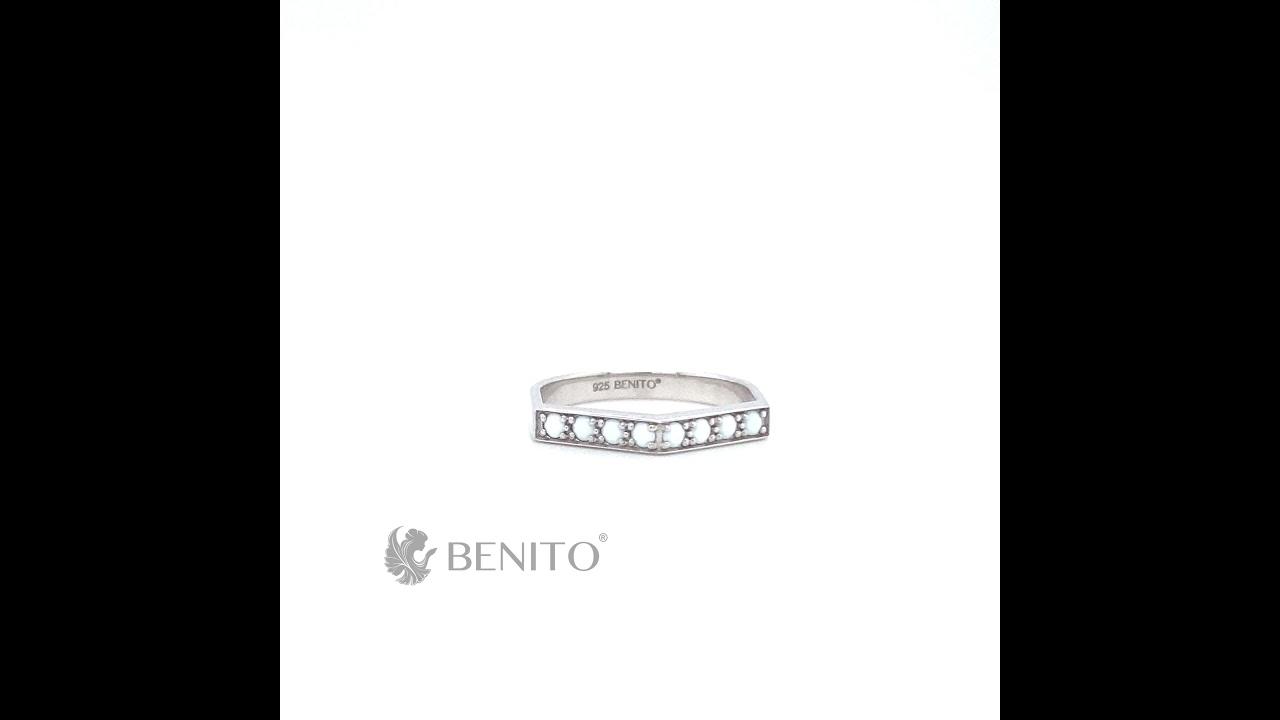 Aria Ring White Nanocrystal Stones