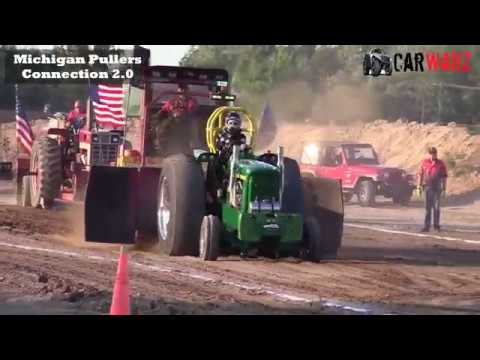 V8 Hot Rod Tractor Class From TTPA Tractor Pulls In Fowlerville Michigan 2018