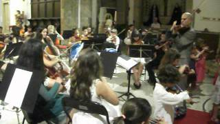 canção do violino. Concerto em Lagos Algarve Portugal.