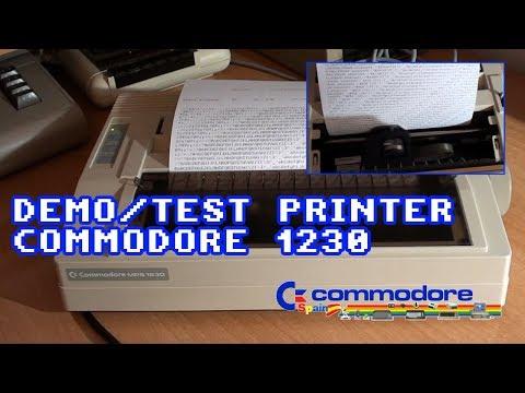 Demo / Test Printer Commodore MPS 1230 - Ejemplo de uso con un Commodore 64