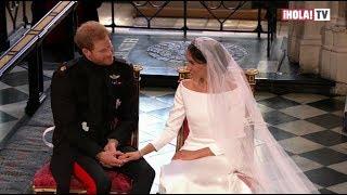 Los gestos y miradas de complicidad de Meghan y Harry durante su boda | ¡HOLA! TV