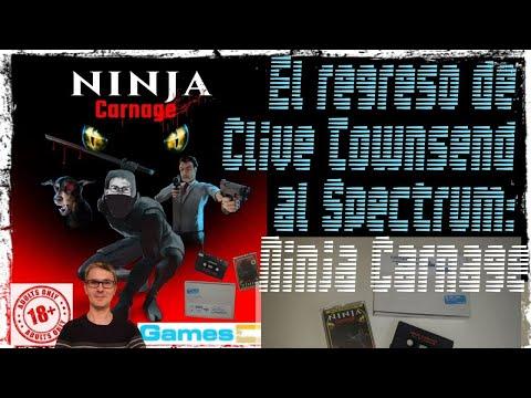 Primeros minutos de Ninja Carnage ¡El regreso de Clive Townsend al Spectrum!