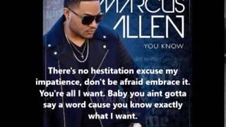 Marcus Allen   You Know (lyrics)