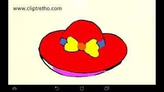 vẽ cái mÅ©, Dạy bé vẽ cái mÅ© đỏ, draw a red hat