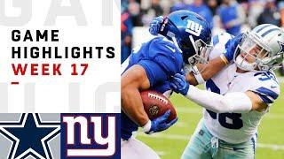 Cowboys vs. Giants Week 17 Highlights   NFL 2018