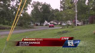 Storm damage in Bessemer