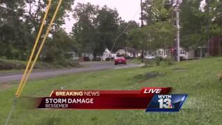 Storm damage in Bessemer