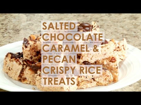 Salted Chocolate Caramel & Pecan Crispy Rice Treats
