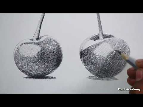 How to sketch Cherry Fruits in Pencil step by step