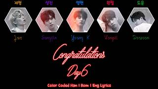 Day6 - Congratulations (Final Ver.) [Color Coded Han|Rom|Eng Lyrics]