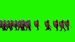Green Screen -  Medieval marching Soldiers (HD1080)