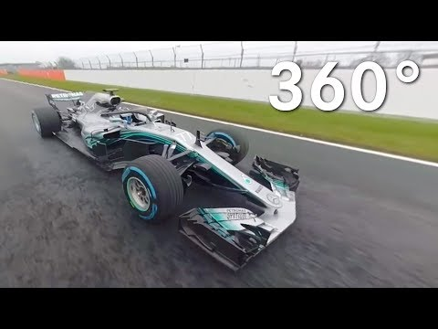 On Track with the 2018 Mercedes F1 W09 in 360!