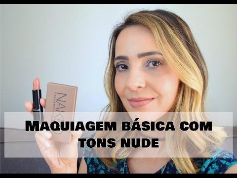 Maquiagem básica com tons nude