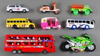 Transportation Vehicles toys with Learn Colors and Number Counting   Video for Children