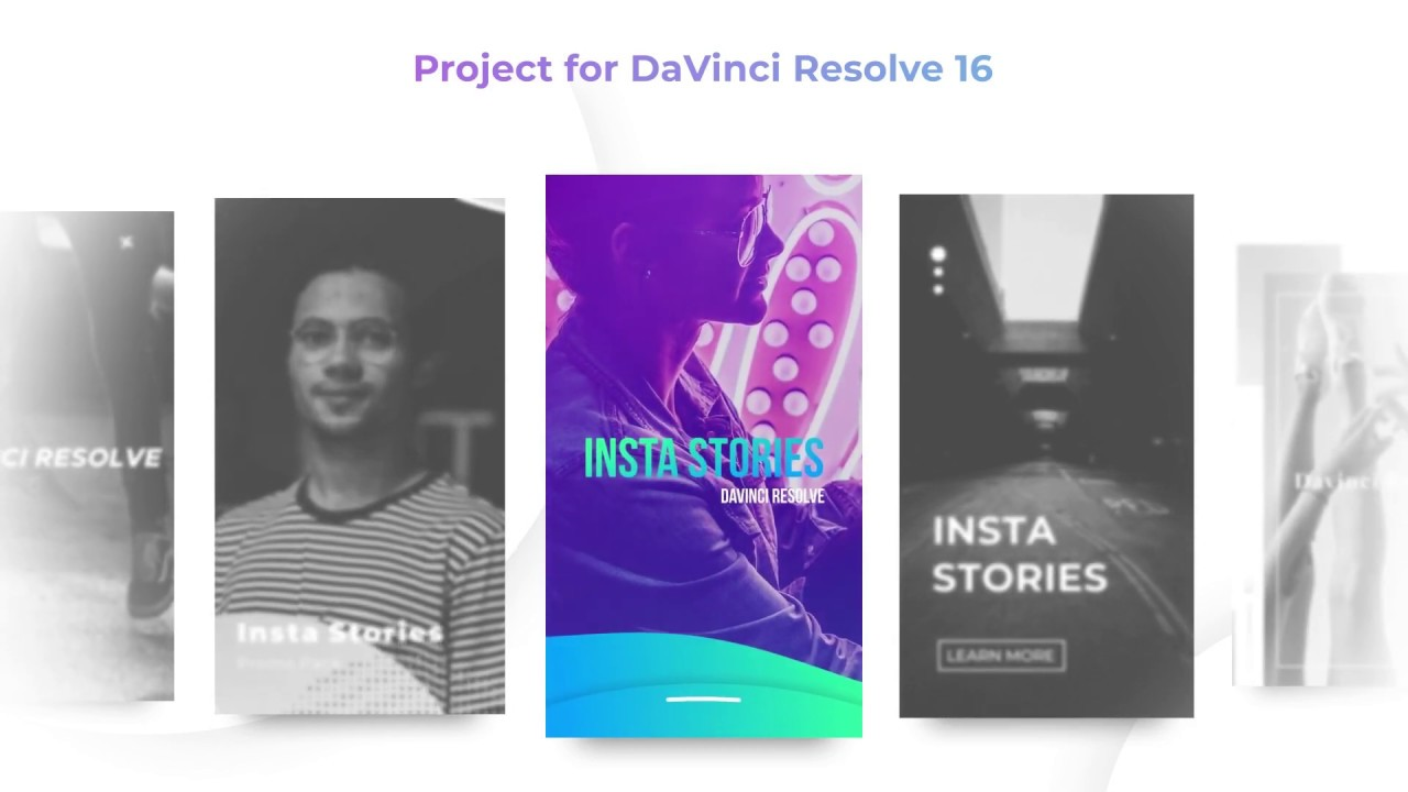 Instagram Stories - Davinci Resolve Templates