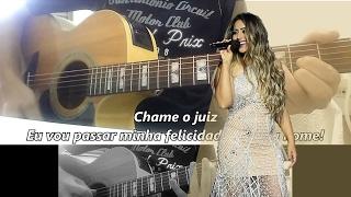 (Karaokê) CHAME O JUIZ - Fernanda Costa -- Violão Instrumental (com letra) - Acústico