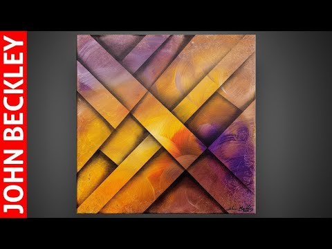 Colorful Abstract Painting Demonstration for Beginners | Relaxing | Operio