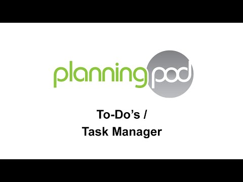 To-Do's / Task Manager - Planning Pod
