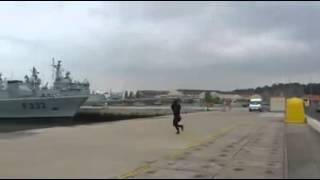 EPIC FAIL durante a apresentacao de drone da Marinha Portuguesa