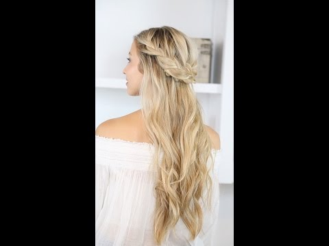How To: Braided Half Up and Beach Waves