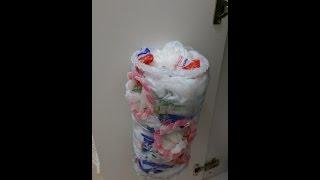 DIY Nylon bag basket , Her evin ihtiyacı Poşetlik, pet şişeden kendin yap