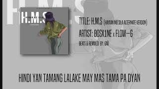 Bosx1ne x Flow-G | H.M.S (Hitone Lyric Video Mix)