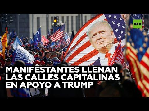 EE.UU.: Miles de manifestantes llenan las calles capitalinas en apoyo a Trump