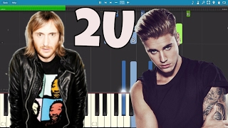 David Guetta ft. Justin Bieber - 2U - Piano Tutorial / Cover - Instrumental