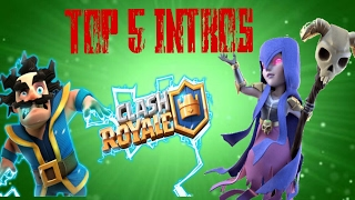 TOP 5 INTROS SEM TEXTO {CLASH ROYALE}