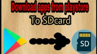 how to download apps from play store to memory card without root