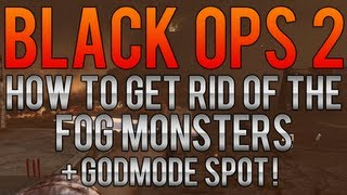 Black Ops 2 Zombie Glitches: How To Get Rid Of The Fog Monsters On Tranzit + Godmode Spot!