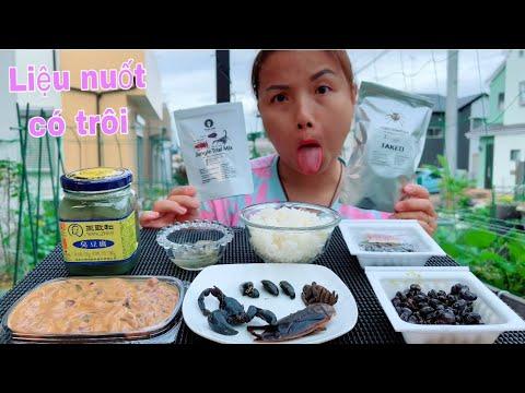 Thử thách ăn thử nhện,bọ cạp,bọ cánh cứng,bọ nước,đậu hủ thối,natto &mực thối lên men #907