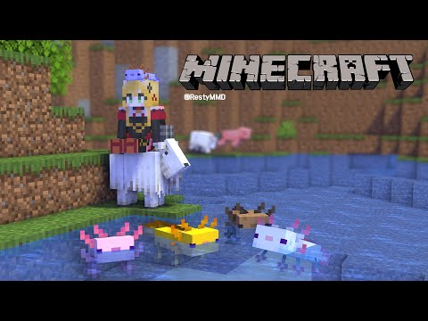 【Minecraft   🌈KR Server】 青いウーパーが欲しい/ 파란 우파【NIJISANJI KR   セフィナ】